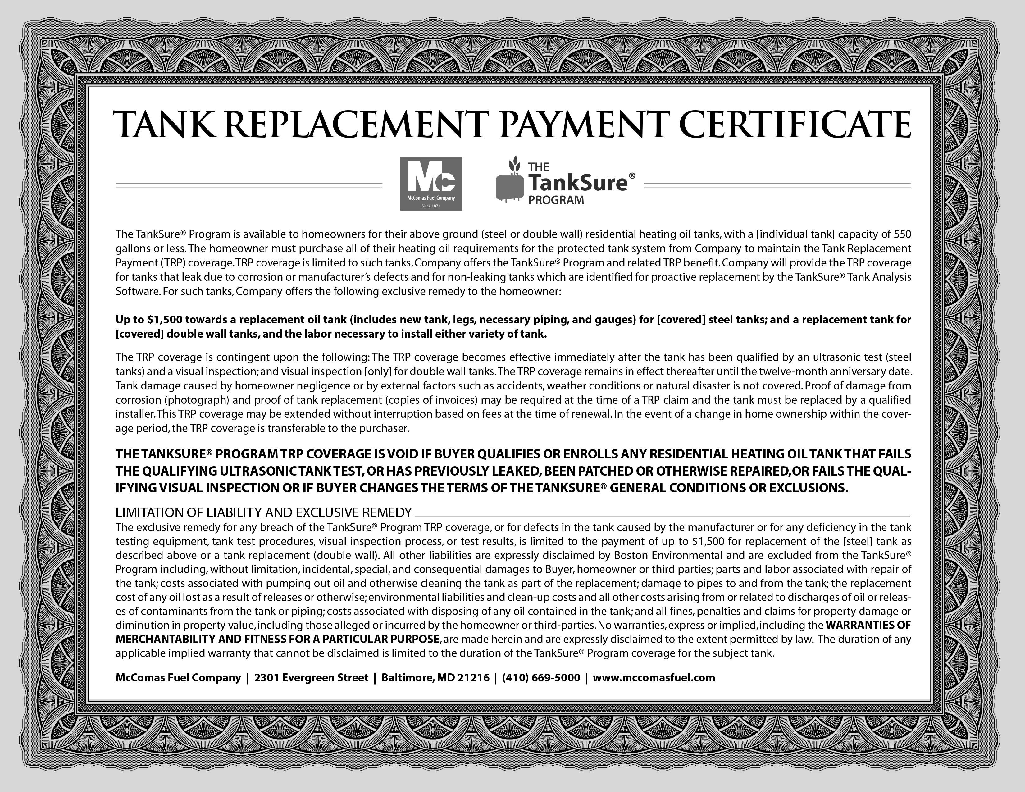 McComas-TankSure-Certificate
